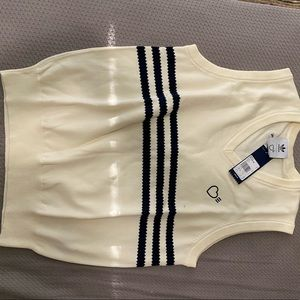 NWT ADIDAS X HUMAN MADE KNITTED VEST CREAM WHITE M